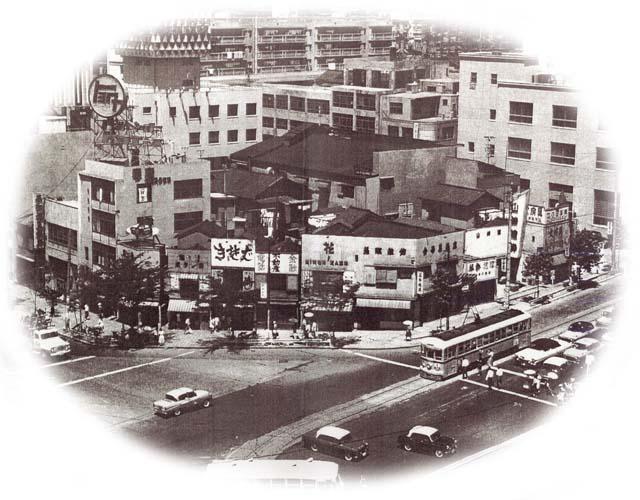 昭和20年代の渋谷宮益坂交差点